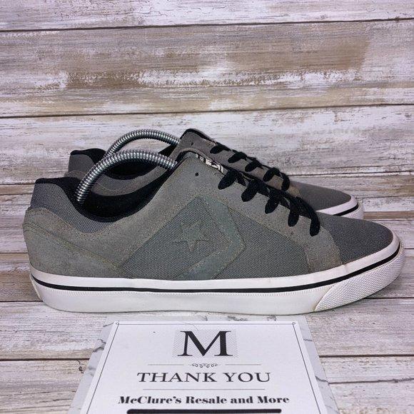 Converse All Star El Distrito Suede/Canvas Sneakers Gray Men's 9 - Women's 10.5